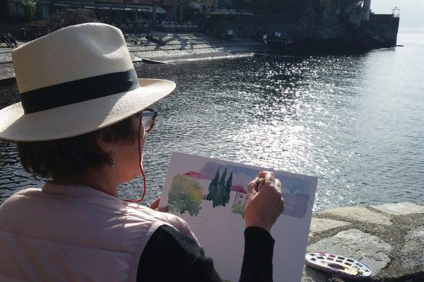HIKE & PAINTING Experience in Varenna, Lake Como